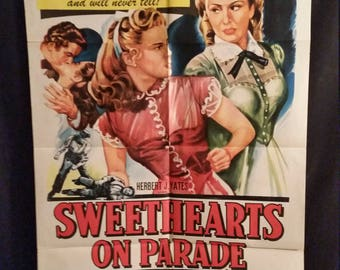Original 1953 Sweethearts On Parade One Sheet Movie Poster Noir Romance Lucille Norman