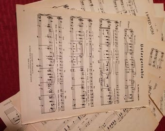 1960-1980's-20 count Naturally aged sheet music.