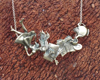 Alice in Wonderland Necklace (.925 Sterling Silver)