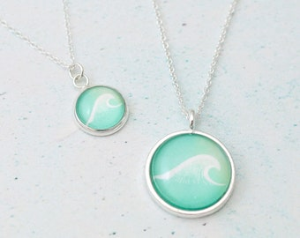 Wave Necklace, Travel Gift, Wanderlust Gift, Adventure Awaits, Nature Jewelry, Boho Jewelry, Beach Jewelry, Beach Necklace, Ocean Jewelry