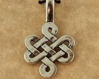 Sterling silver Irish Celtic Knot Weave Pendant