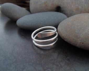 Sterling silver jewelry,  Spiral sterling silver ring
