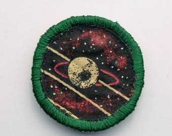 planet patch space patches handmade iron on patches