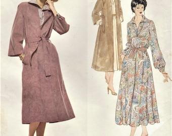 70s Jerry Silverman Womens Pullover Dress, Wrap Coat & Belt Vogue Sewing Pattern 1961 Size 16 Bust 38 FF Vintage Vogue American Designer