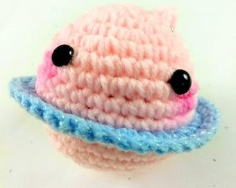 Kawaii Crochet Planet Keychain Amigurumi
