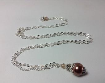 Brown Pearl Bridesmaid Necklace