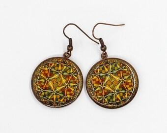 Dangle earrings Geometric earrings Statement earrings Birthday gift for mom gift for sister gift for girlfriend gift for wife gift for her