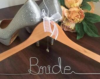 Bride Hanger: Bride Coat Hanger; Gift for Bride;Special Coat Hanger for Bride; bride hanger; bridal coat hanger; custom wedding coat hanger;