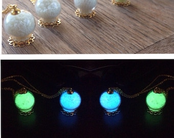 Glow-in-the-Dark Ornate Orb Necklaces