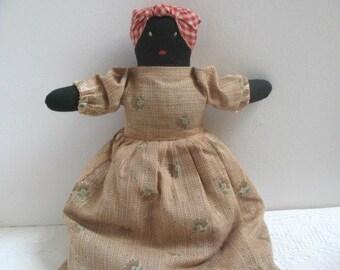 Vintage Topsy Turvy Doll Two Sided Cloth Doll  Folk Art Doll Americana