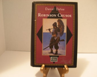Robinson Crusoe, Hard Cover Novel, Dust Jacket, Daniel Defoe, 1996, Free Shipping