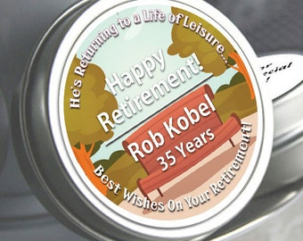 12 Park Bench Retirement Mint Tin Favors  - RetireMints - Park - Retirement Favors - Retirement Decor - Retirement Mints - Retired Mints
