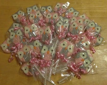 Owl Chocolate Lollipops