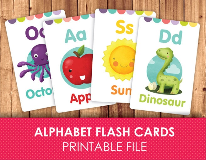 Tot School Printables ~ ABC Flashcards - 1 1 1=1