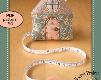 House Tape Measure ( quilted patchwork appliqué embroidery cover home sewing tools ornament quilt pattern )