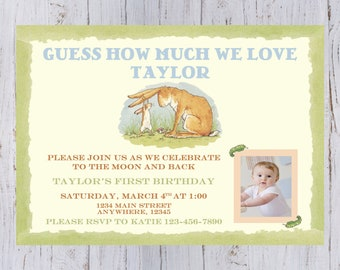 Guess How Much I Love You Birthday Invitation
