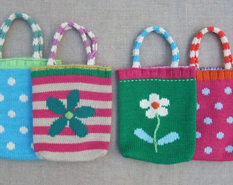 childrens knitted bag