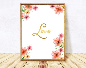 Love, Typography Print, Love Quote, Printable, Love Art, Love Poster, Love Wall Art, Love Sign, Love Print, Art Print, Instant Download