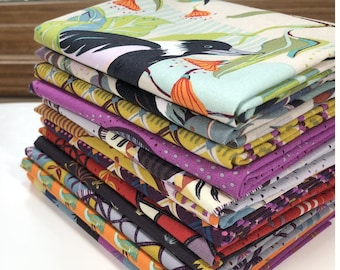 Horizons HALF YARD BUNDLE, Kathy Doughty, Free Spirit Fabric, Woodland Fabric, Australia Fabric, Quilt Fabric, Australian Bird, 12 Skus