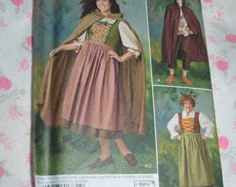 Simplicity 1771 Misses and Mens Costume Sewing Pattern - UNCUT Size 8 - 18 ( XS - XL )
