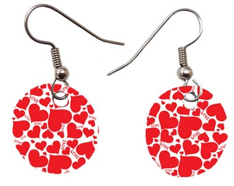 Custom Personalized Earrings / Add Picture,Text/Great Gift for Valentine's Day, Birthdays, Favors