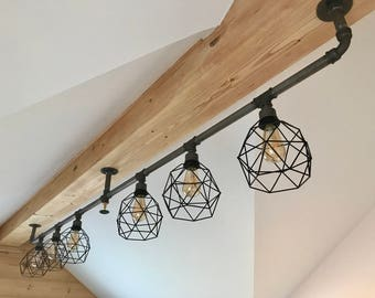Unique ceiling lamp in an industrial look | Metal Pipe | Industrial | New