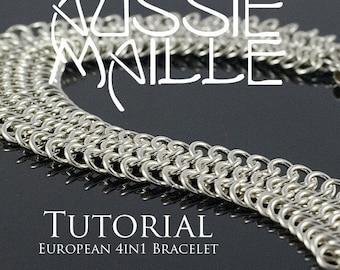 Chainmaille Tutorial - European 4in1 Bracelet