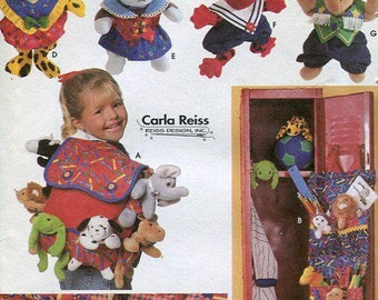 FREE US SHIP Simplicity 7929 Bean Babies Beanie Bag doll costumes Closet Locker Organizer Toy Backpack 1997 uncut Bed Caddy Out of Print
