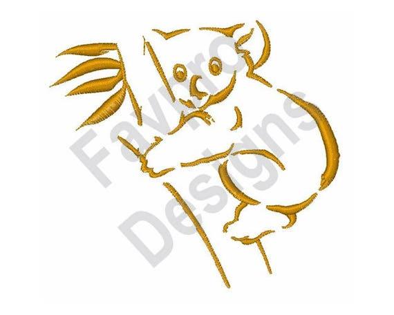 Koala Umriss Maschine Stickerei-Design
