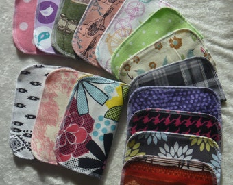 5 Adult Style Mixed Print, Family Cloth Napkins, Lunch Napkins, Reusable