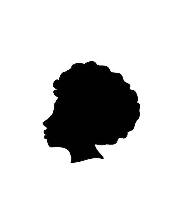 afro silhouette svg clip art afro natural hair png files rh etsy com black natural hair clipart black natural hair clipart