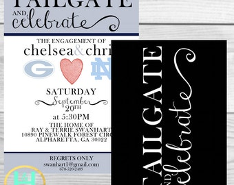 Tailgate and Celebrate [Co-ed Shower, featuring college alma maters, DIY, printable, custom, option to print and ship]