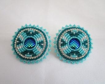 Aqua and Teal Earrings