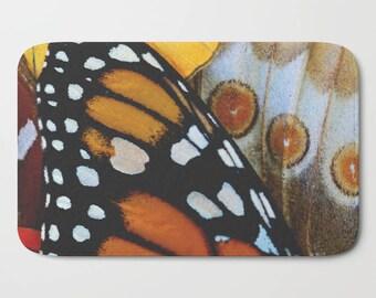 Monarch Butterfly Bath Mat, Bath Mat for Girl, Girls Bathroom Decor, Bath Mat Set, Butterfly, Gifts for Her