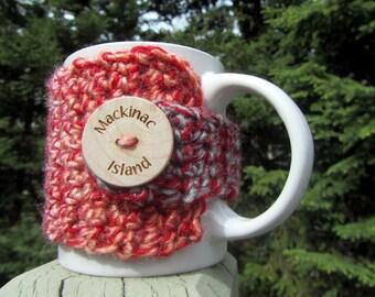 MACKINAC ISLAND, Up North Michigan, Mackinac Coffee Cup Cozy, Mackinac Souvenir, Mackinac Island Michigan, Up North, Mackinaw City