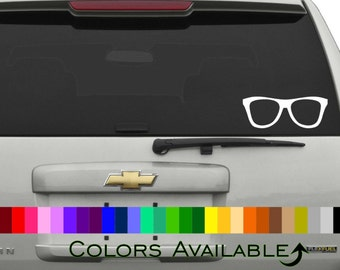 Nerd Glasses Car Decal