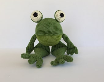 Amigurumi Frog, Crocheted Frog, Frog Plushie, Plush Frog