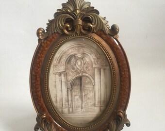 Ornate Decorative Oval Picture Frame