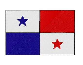 Buy 1 Take 1 Embroidery Design, Panama Flag Machine Embroidery Design, Instant Download, Fits 4x4 Hoop Size,  9 Formats