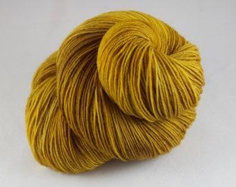 Hand Dyed Sock Yarn, hand dyed wool, variegated sock yarn, nylon sock yarn, yellow