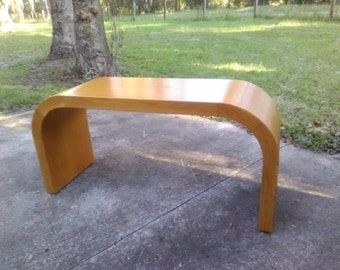 Vintage Wood Waterfall Console Table Sofa Table Enterance Table