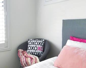 XO White - Decorative Pillow Case, Throw Cushion Cover, Pillow Cover Cover, Decor, Throw Pillow Cover, Cushion Cover