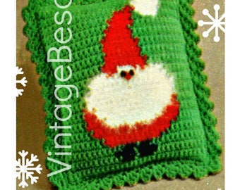 1970s Christmas Pillow • Santa Crochet Pattern • Free Pattern • Santa Claus Home Decor • Instant Download • PDF Pattern • DIGITAL PATTERN