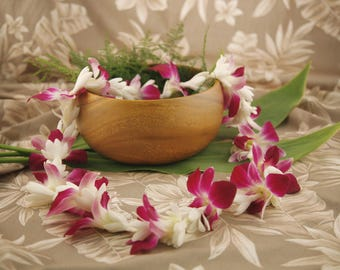 """Lei """"Tuberose Dendrobium"""" Orchid/Tuberose Lei - Fresh Authentic Lei Shipped from Honolulu - Choose Your Delivery Date! - Hawaiian Weddings"""
