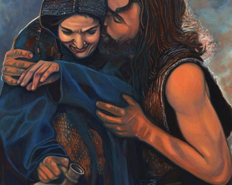 Unconditional Love-Mary and Jesus On Canvas