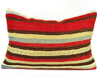 Kilim Pillow Cover, Kilim Pillow, Turkish Pillow, Kilim Cushions, Moroccan Pillow,  Bohemian Pillow, Turkish Kilim, Kilim, KP91 (tp8-67)