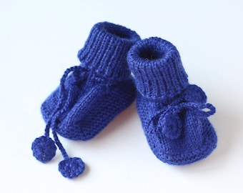 MADE TO ORDER/ Hand knitted baby booties/ merino wool