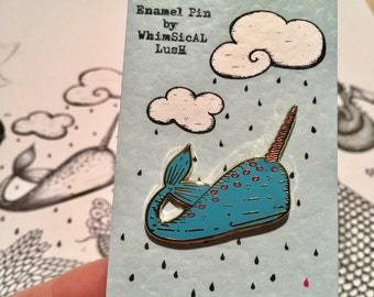 Narwhal Enamel Pin by WhimSicAL LusH: Limited Edition