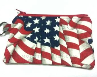 Stars n Stripes gift for men zip coin purse, cardholder card wallet,  travel organizer id170511 gadget case, portefeuille, portemonnaie