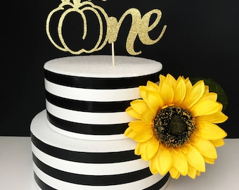 First Birthday cake topper- One cake topper- Little pumpkin cake topper- smash cake- fall cake topper- pumpkin cake topper
